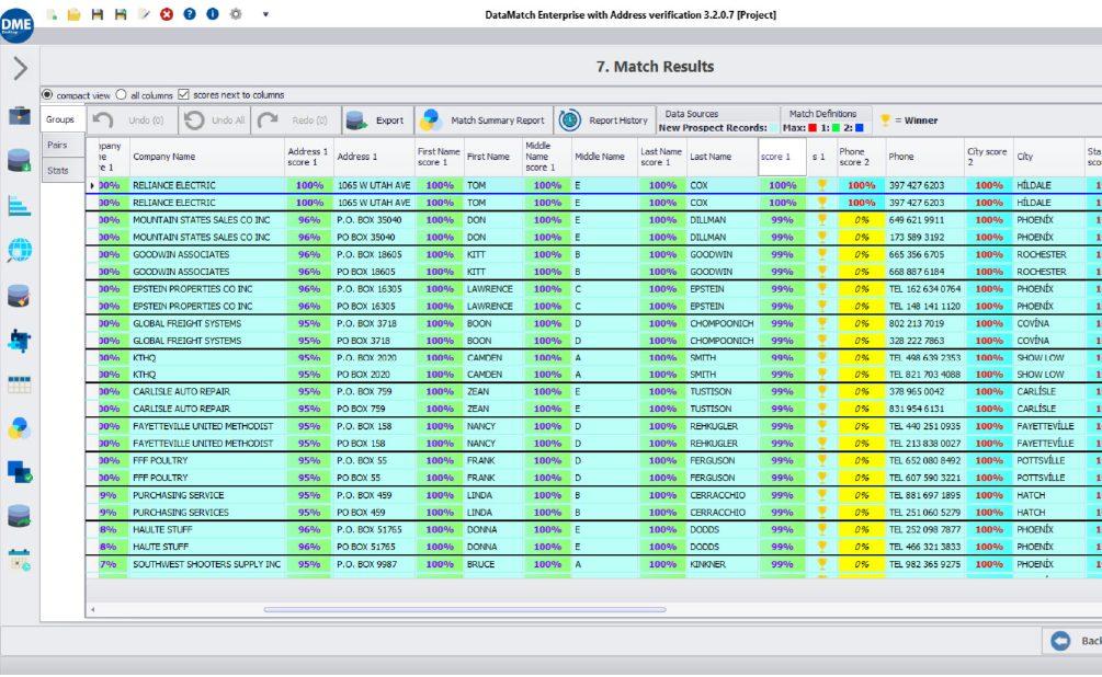 Data Matching Results - Benefits of Data Matching