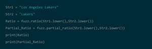 Fuzzy Matching in Python
